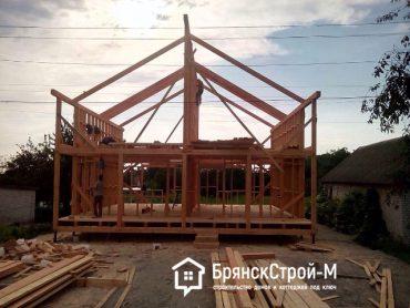 Строительство каркасного дома (Июнь 2017)